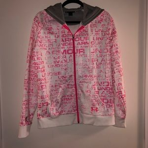 Under Armour breast cancer zip hoodie